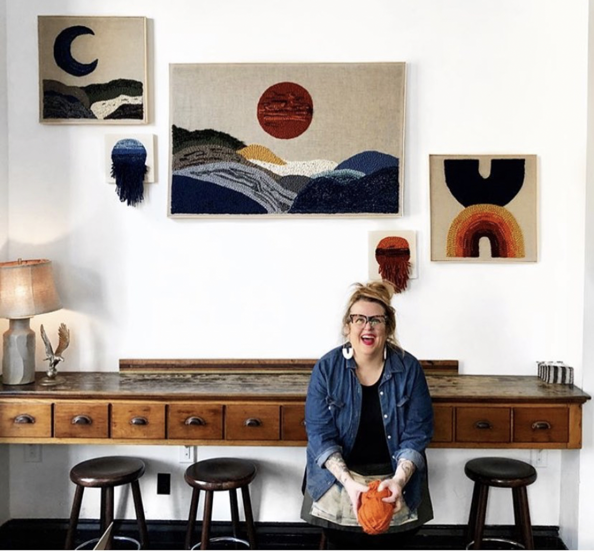 Image of Kelly Malone in her Studio
